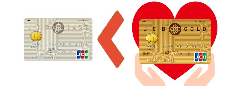 JCBゴールドと一般カードの比較