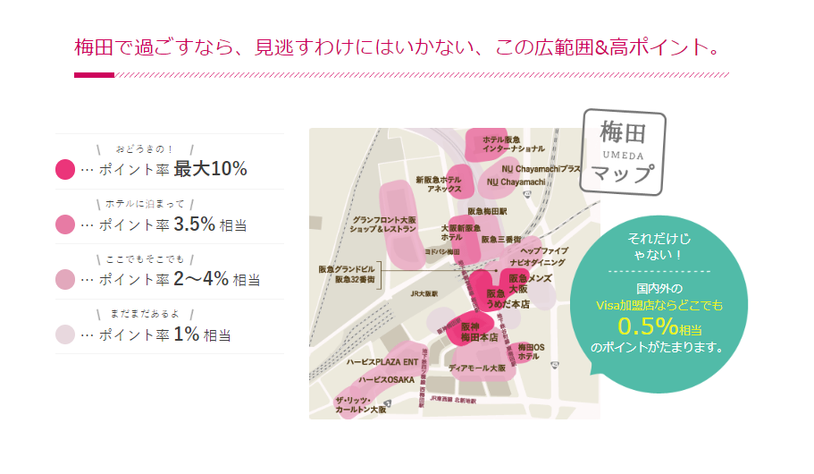 ペルソナSTACIカード梅田地図